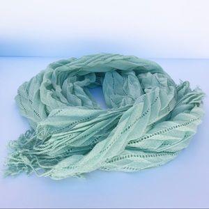 Seafoam Green Long Rectangle Scarf